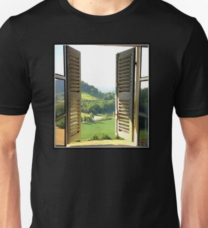 Italian Window Landscape Photography  Unisex T-Shirt