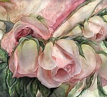 Miracle Of A Rose Bud - Pink by Carol  Cavalaris