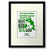 Makoto || Right Now Framed Print