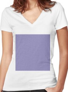 Blue brick texture Women's Fitted V-Neck T-Shirt