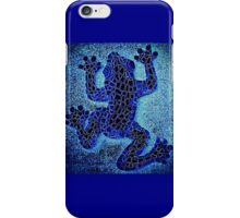 Neon Blue Climbing Frog - Mosaic iPhone Case/Skin