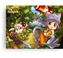 RPG Cats Adventure Canvas Print