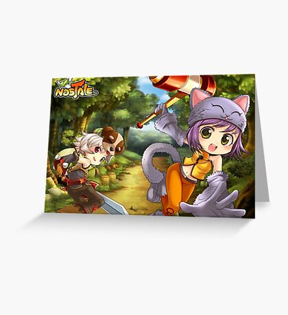 RPG Cats Adventure Greeting Card