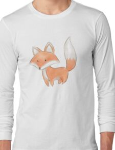 Cute Little Fox Painting Long Sleeve T-Shirt