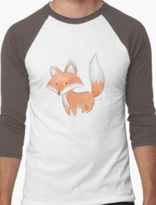 Cute Little Fox Painting Men's Baseball ¾ T-Shirt