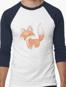 Cute Little Fox Painting Men's Baseball ¾ T-Shirt