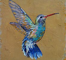 Turquoise Hummingbird by Michael Creese