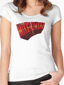 ▼▲ Mike-Ro-Wave ▲▼ Women's Fitted Scoop T-Shirt