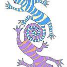 Loopin' Lizards by redqueenself
