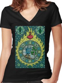 the meeting Women's Fitted V-Neck T-Shirt