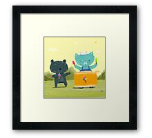 Happy Ice Cream Day Framed Print