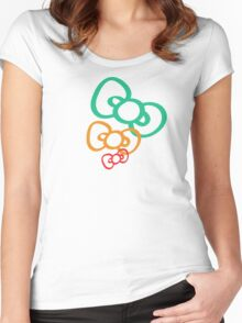 Ribbon Women's Fitted Scoop T-Shirt