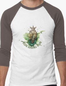 Run Rhino Run Men's Baseball ¾ T-Shirt