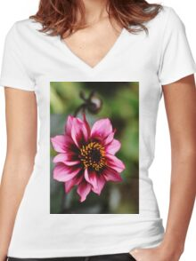 Dreamy Nights Women's Fitted V-Neck T-Shirt