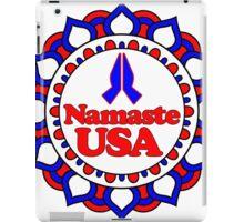 NAMASTE USA PEACE YOGA HAND RED WHITE BLUE PATRIOTIC iPad Case/Skin