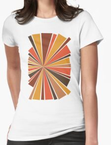 70's Star Burst Womens Fitted T-Shirt