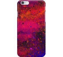 Pink, Blue and Orange Paint Splatters iPhone Case/Skin