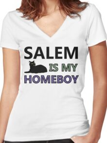Salem Is My Homeboy Women's Fitted V-Neck T-Shirt