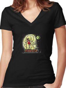 Skipping Girl Vinegar Women's Fitted V-Neck T-Shirt