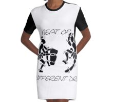 """Beat Of A Different Drum"" Artwork by Carter L. Shepard""   Graphic T-Shirt Dress"