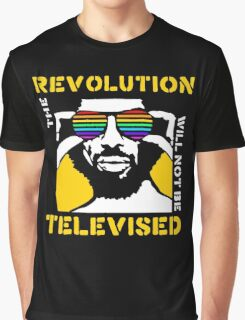 REVOLUTION WILL NOT BE TELEVISED GIL SCOTT HERON Graphic T-Shirt