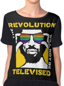 REVOLUTION WILL NOT BE TELEVISED GIL SCOTT HERON Chiffon Top