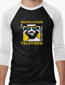 REVOLUTION WILL NOT BE TELEVISED GIL SCOTT HERON Men's Baseball ¾ T-Shirt