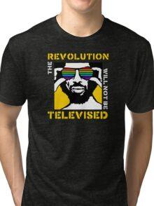 REVOLUTION WILL NOT BE TELEVISED GIL SCOTT HERON Tri-blend T-Shirt