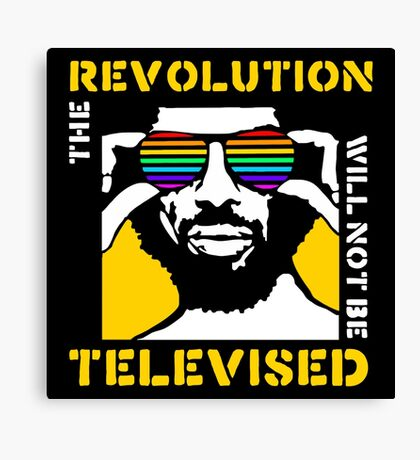 REVOLUTION WILL NOT BE TELEVISED GIL SCOTT HERON Canvas Print