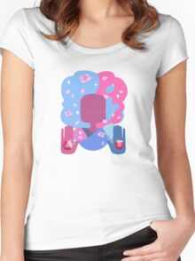 Garnet - Cotton Candy Pastel Women's Fitted Scoop T-Shirt