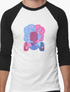 Garnet - Cotton Candy Pastel Men's Baseball ¾ T-Shirt