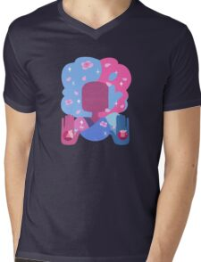 Garnet - Cotton Candy Pastel Mens V-Neck T-Shirt