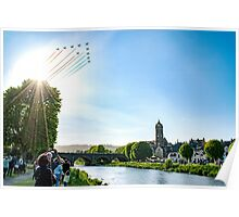 Red Arrows over Peebles Poster
