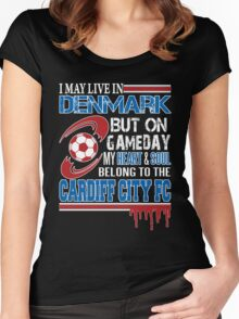 Danish - Denmark Cardiff Fc Women's Fitted Scoop T-Shirt