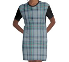 02410 Diana Princess of Wales Memorial Commemorative Tartan  Graphic T-Shirt Dress