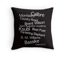 TOP CLASS FASHION DESIGNERS FROM AUSTRALIA IN ONE T-SHIRT Throw Pillow