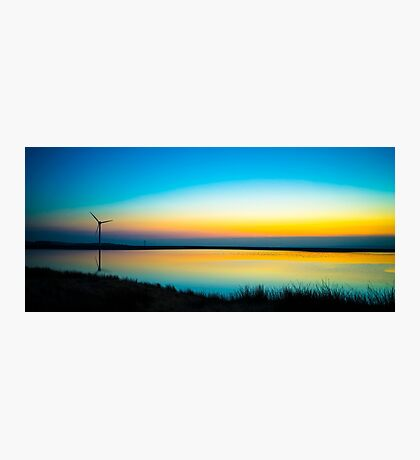 Rainbow Reservoir Sunset  Photographic Print