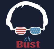 Bernie or Bust (dark blue background) One Piece - Long Sleeve