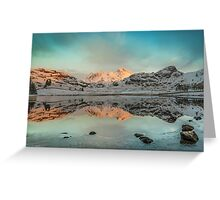 There's Gold in them there hills - Blea Tarn Greeting Card