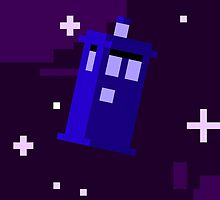 Pixeled Tardis Phone Case by PacificaOcean