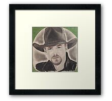 an American country music singer and actor Framed Print