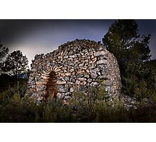 dry stone shelter Photographic Print