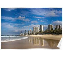 Main Beach - Surfers Paradise Poster