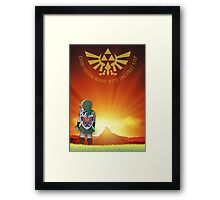 The Legend begins Framed Print