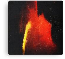Red Abstract Yellow Stripe Canvas Print