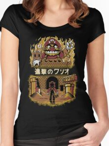 ATTACK ON WARIO Women's Fitted Scoop T-Shirt