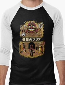 ATTACK ON WARIO Men's Baseball ¾ T-Shirt