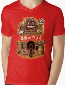 ATTACK ON WARIO Mens V-Neck T-Shirt