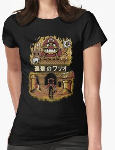 ATTACK ON WARIO Womens Fitted T-Shirt