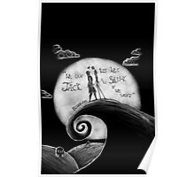 Jack And Sally Blink - 182 Pen Drawing Poster